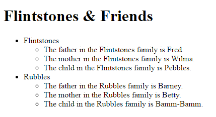 Screenshot -- Array of Flintstones